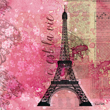 Pink Paris Prints by Roberto LuAnn