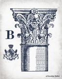 Indigo Column B Art by Babbitt Gwendolyn