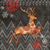 Reindeer Dance I Print by Paul Brent