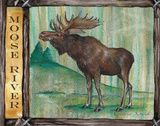 Lodge Moose Posters by Donna Knold