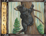 Lodge Bear Print by Donna Knold