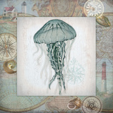 Nautical Jellyfish Art by Washburn Lynnea