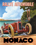 Monaco Rallye Posters by Catherine Jones