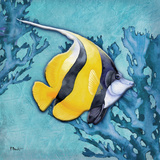 Azure Tropical Fish II Prints by Paul Brent