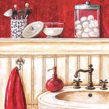 Red Bath II Art by Gregory Gorham