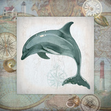 Nautical Dolphin Poster by Washburn Lynnea