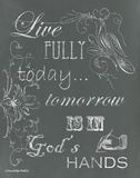 Live Fully Chalkboard Posters by Babbitt Gwendolyn