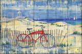 Red Beach Cruiser Posters by Paul Brent
