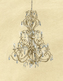 Elegant Chandelier I Prints by Laurencon