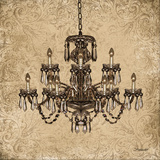 Vintage Chandelier I Art by Williams Todd