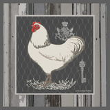 White Rooster Poster by Babbitt Gwendolyn