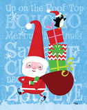 Santa & Bag of Presents Prints by Woo Teresa