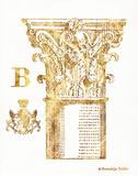 Gold Column B Posters by Gwendolyn Babbitt