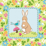 Meadow Bunny II Posters by White Betz
