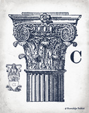 Indigo Column C Posters by Gwendolyn Babbitt