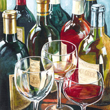 Wine Reflections Sq II Print by Gregory Gorham