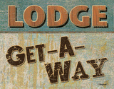 Lodge Get Away Print by Todd Williams