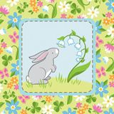 Meadow Bunny I Art by White Betz