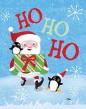 Santa Gift Prints by Woo Teresa