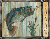 Lodge Fish Prints by Donna Knold