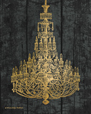 Gold Chandelier I Prints by Babbitt Gwendolyn