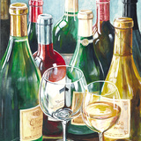 Wine Reflections Sq I Prints by Gorham Gregory