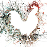 Party Rooster I Prints by Gorham Gregory