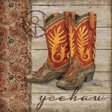 Wild West Boots I Posters by Brent Paul