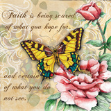 Inspire Butterfly III Poster by Donna Knold