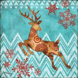 Ice Reindeer Dance II Art by Brent Paul