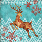 Ice Reindeer Dance II Art by Paul Brent
