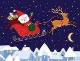 Santa & Reindeer Posters by Teresa Woo