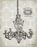 Vintage Chandelier II Posters by Babbitt Gwendolyn