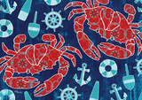 Pattern Crabs Posters by Paul Brent