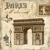 Paris Collage Sq II Prints by Gorham Gregory