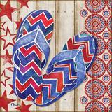 Patriotic Sarasota Sandals II Art by Brent Paul