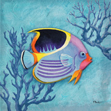 Azure Tropical Fish I Posters by Paul Brent