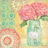 Vintage Glass Floral I Posters by Paul Brent