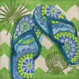 Coastal Flip Flops I Posters by Brent Paul