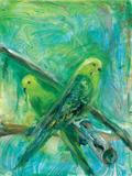 Parakeets I Affiches par Palanuk-Wilson Denice