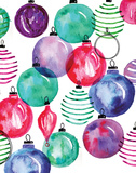 Watercolor Ornaments Posters by Sara Berrenson