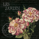 Les Jardin Roses Sq. Prints by Kimberly Poloson
