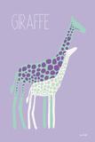 Purple Zoo V Posters by Kris Ruff