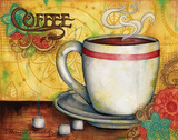 Spring Coffee Poster by Donna Knold