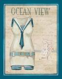 Vintage Bathing Suit III Reprodukcje autor Brent Paul