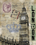 Travel London Print by Donna Knold
