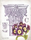 Column & Flower C Art by Gwendolyn Babbitt