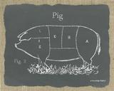 Pig on Burlap Art by Gwendolyn Babbitt
