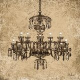 Vintage Chandelier II Prints by Williams Todd