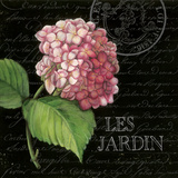 Les Jardin Geranium Sq. Art by Kimberly Poloson